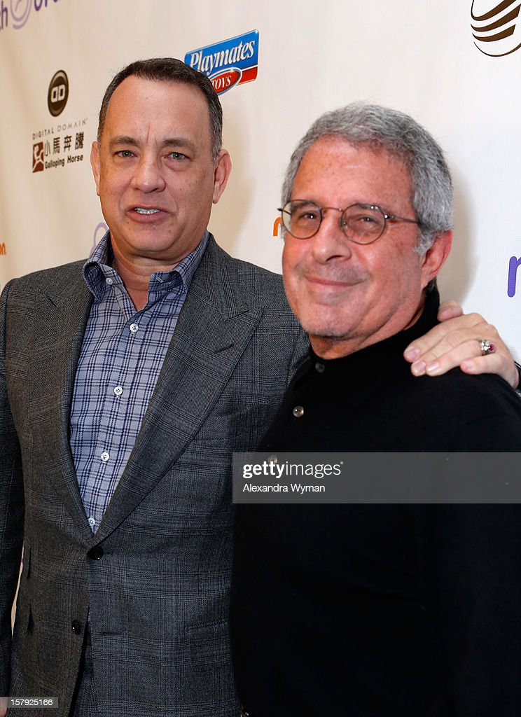 Actor Tom Hanks and Universal Studios President & COO Ron Meyer attend the 7th Annual March of Dimes Celebration of Babies, a Hollywood Luncheon, at the Beverly Hills Hotel on December 7, 2012 in Beverly Hills, California.