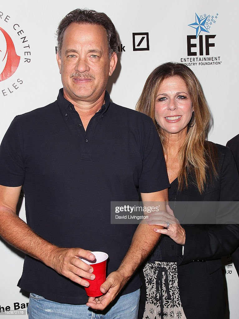 Actor <a gi-track='captionPersonalityLinkClicked' href=/galleries/search?phrase=Tom+Hanks&family=editorial&specificpeople=201790 ng-click='$event.stopPropagation()'>Tom Hanks</a> (L) and wife actress <a gi-track='captionPersonalityLinkClicked' href=/galleries/search?phrase=Rita+Wilson+-+Actress&family=editorial&specificpeople=202642 ng-click='$event.stopPropagation()'>Rita Wilson</a> attend the Shakespeare Center of Los Angeles' 22nd Annual 'Simply Shakespeare' at the Freud Playhouse, UCLA on September 27, 2012 in Westwood, California.