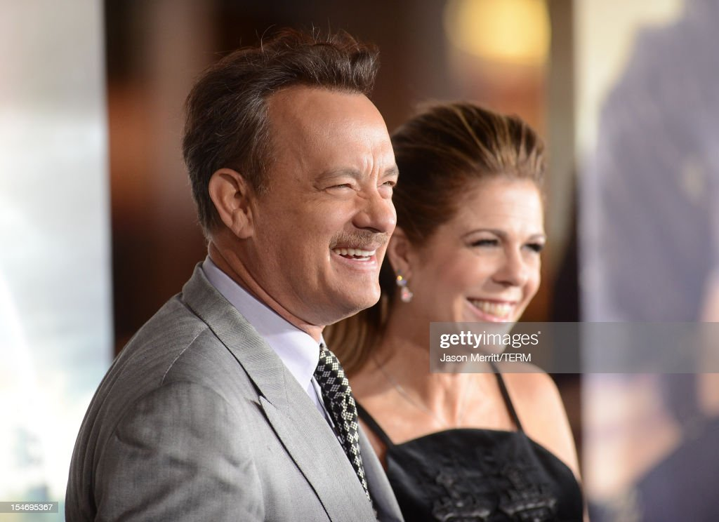 Actor Tom Hanks and wife Rita Wilson arrive at Warner Bros. Pictures' 'Cloud Atlas' premiere at Grauman's Chinese Theatre on October 24, 2012 in Hollywood, California.
