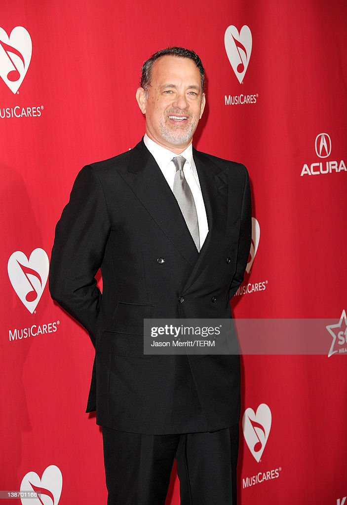 Actor <a gi-track='captionPersonalityLinkClicked' href=/galleries/search?phrase=Tom+Hanks&family=editorial&specificpeople=201790 ng-click='$event.stopPropagation()'>Tom Hanks</a> arrives at the 2012 MusiCares Person of the Year Tribute to Paul McCartney held at the Los Angeles Convention Center on February 10, 2012 in Los Angeles, California.