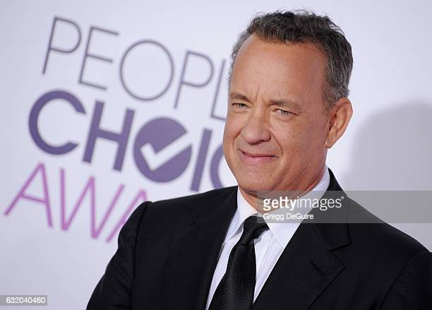 Actor Tom Hanks arrives at the 2017 People's Choice Awards at Microsoft Theater on January 18 2017 in Los Angeles California