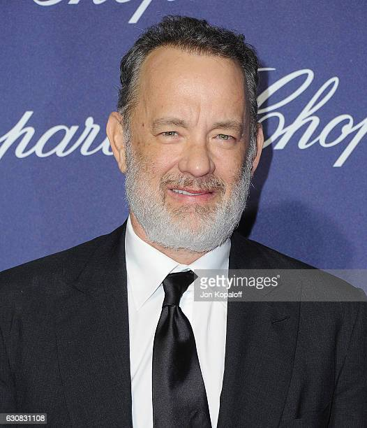 Actor Tom Hanks arrives at the 28th Annual Palm Springs International Film Festival Film Awards Gala at Palm Springs Convention Center on January 2...