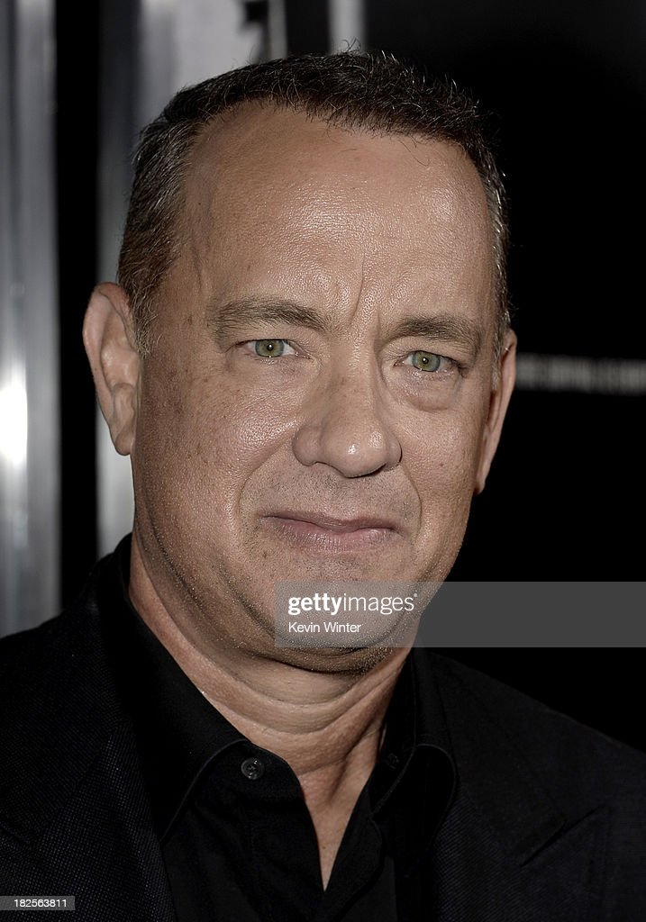 Actor <a gi-track='captionPersonalityLinkClicked' href=/galleries/search?phrase=Tom+Hanks&family=editorial&specificpeople=201790 ng-click='$event.stopPropagation()'>Tom Hanks</a> arrives at the premiere of Columbia Pictures' 'Captain Phillips' at the Academy of Motion Picture Arts and Sciences on September 30, 2013 in Beverly Hills, California.