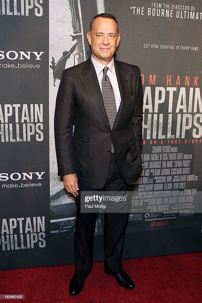 Actor <a gi-track='captionPersonalityLinkClicked' href=/galleries/search?phrase=Tom+Hanks&family=editorial&specificpeople=201790 ng-click='$event.stopPropagation()'>Tom Hanks</a> arrives at the screening of 'Captain Phillips' at The Newseum on October 2, 2013 in Washington, DC.