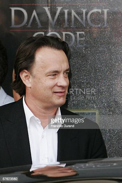 Actor Tom Hanks arrives in Cannes on the new Da Vinci Code Eurostar ahead of tomorrow's photocall and World Premiere of the controversial film at...