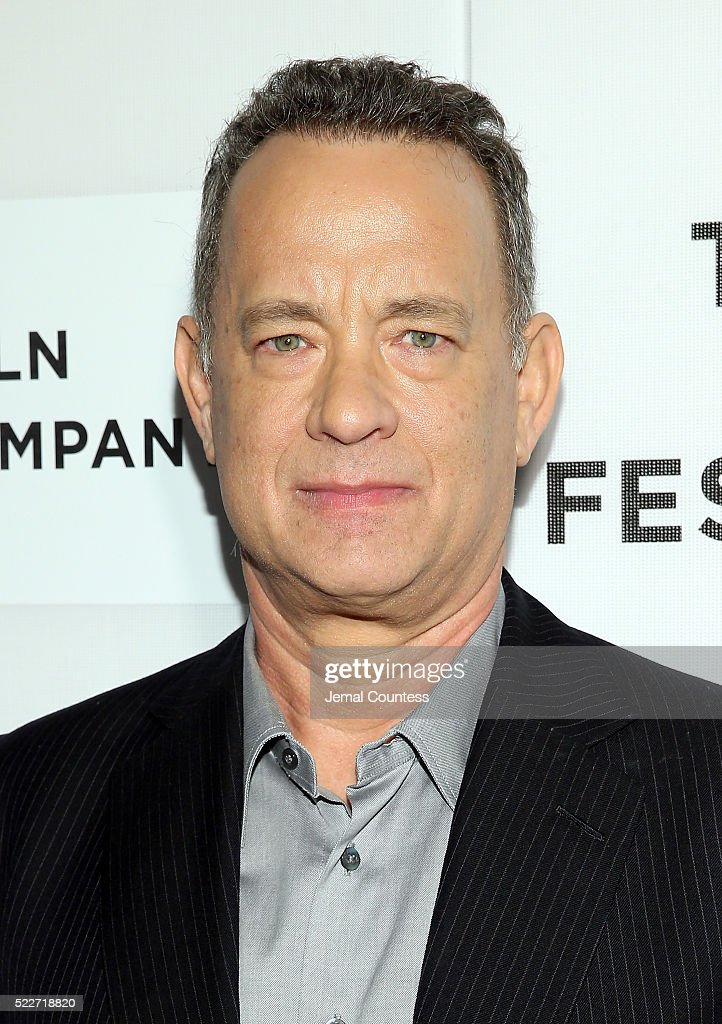 Actor Tom Hanks attends 'A Hologram For The King' World Premiere at the John Zuccotti Theater at BMCC Tribeca Performing Arts Center on April 20, 2016 in New York City.