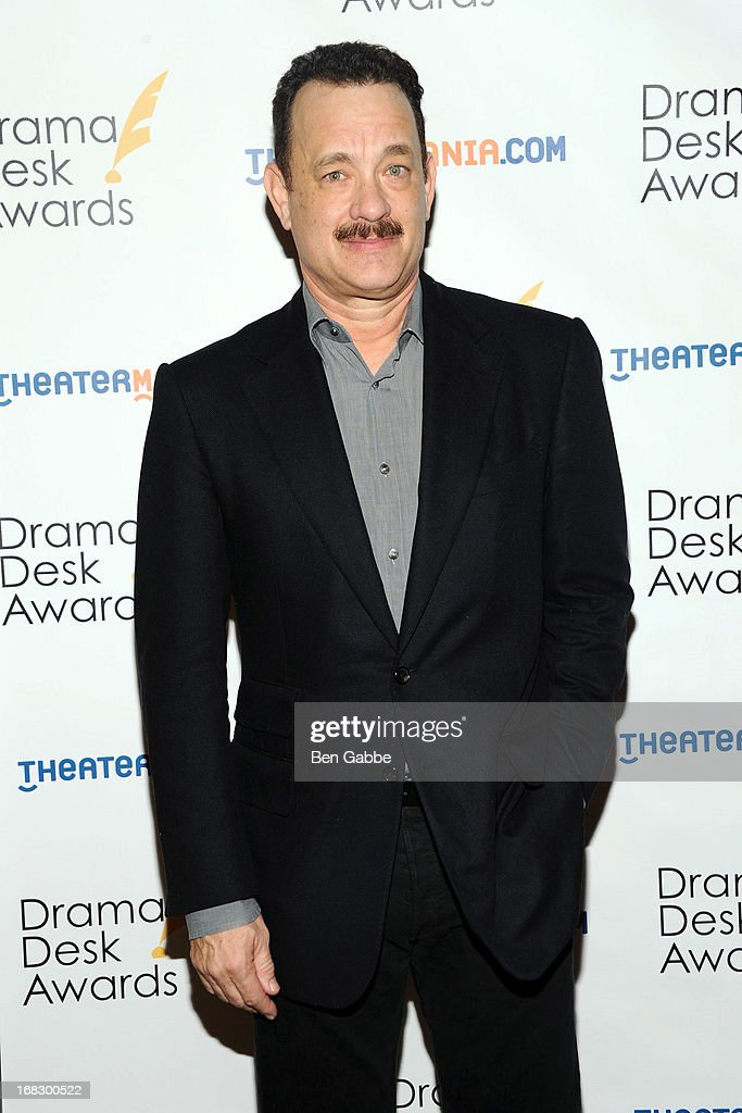 Actor <a gi-track='captionPersonalityLinkClicked' href=/galleries/search?phrase=Tom+Hanks&family=editorial&specificpeople=201790 ng-click='$event.stopPropagation()'>Tom Hanks</a> attends The 2013 Drama Desk Nominees Reception at JW Marriott Essex House on May 8, 2013 in New York City.