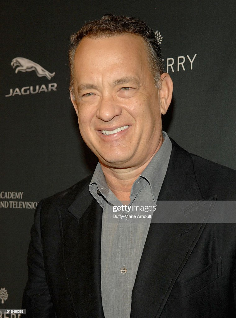 Actor <a gi-track='captionPersonalityLinkClicked' href=/galleries/search?phrase=Tom+Hanks&family=editorial&specificpeople=201790 ng-click='$event.stopPropagation()'>Tom Hanks</a> attends the 2014 BAFTA Los Angeles Awards Season Tea Party presented by Jaguar Land Rover and Mulberry at the Four Seasons Hotel Los Angeles at Beverly Hills on January 11, 2014 in Los Angeles, California.
