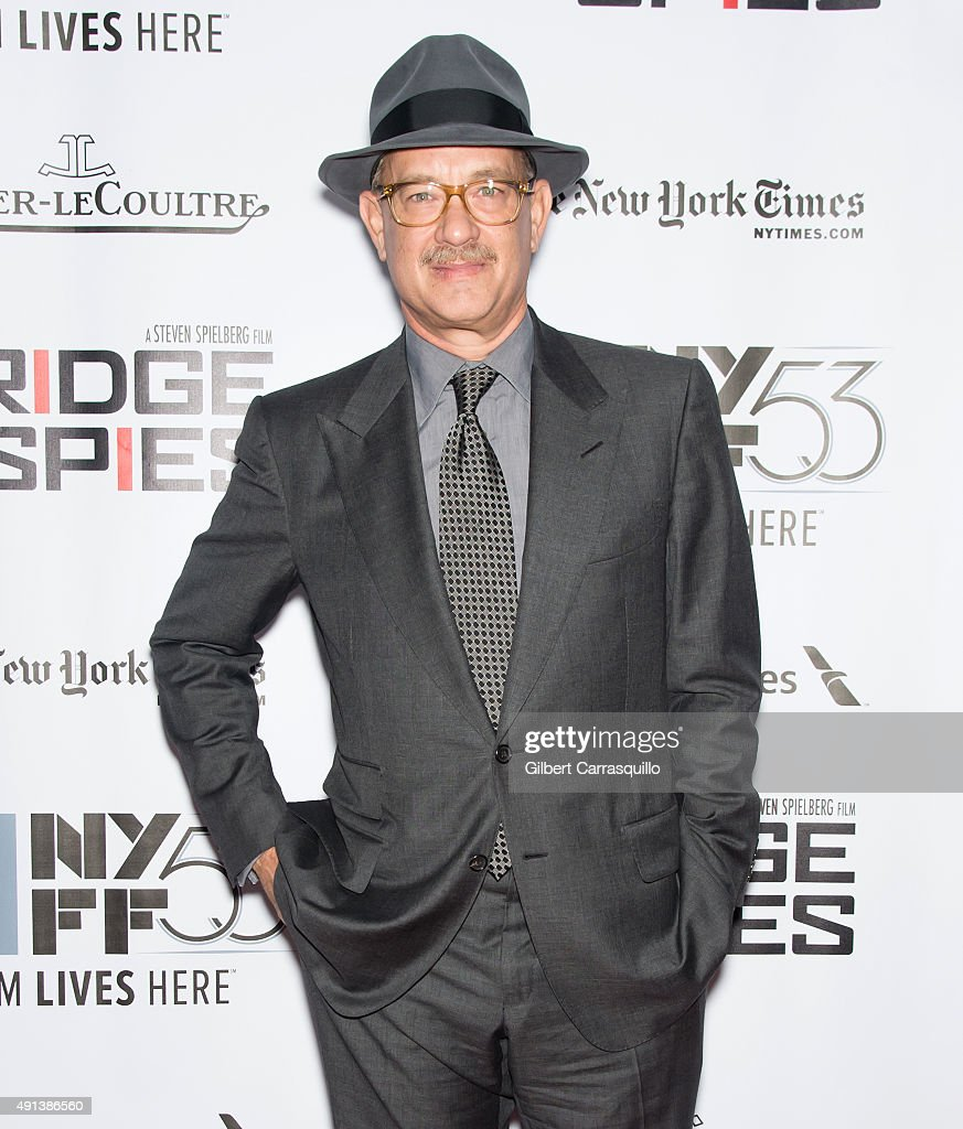 Actor <a gi-track='captionPersonalityLinkClicked' href=/galleries/search?phrase=Tom+Hanks&family=editorial&specificpeople=201790 ng-click='$event.stopPropagation()'>Tom Hanks</a> attends the 53rd New York Film Festival - 'Bridge Of Spies' at Alice Tully Hall, Lincoln Center on October 4, 2015 in New York City.