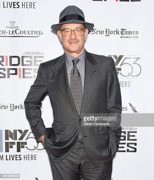 Actor Tom Hanks attends the 53rd New York Film Festival 'Bridge Of Spies' at Alice Tully Hall Lincoln Center on October 4 2015 in New York City