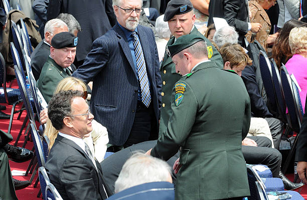 Actor Tom Hanks Attends The 65th D Day Anniversary Ceremony On June 6 2009
