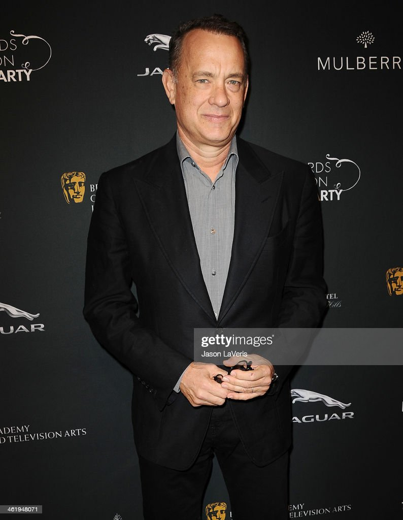 Actor <a gi-track='captionPersonalityLinkClicked' href=/galleries/search?phrase=Tom+Hanks&family=editorial&specificpeople=201790 ng-click='$event.stopPropagation()'>Tom Hanks</a> attends the BAFTA LA 2014 awards season tea party at Four Seasons Hotel Los Angeles at Beverly Hills on January 11, 2014 in Beverly Hills, California.
