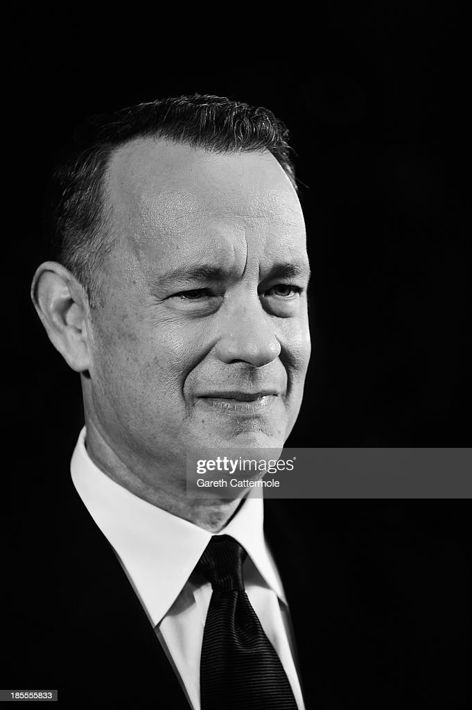 Actor <a gi-track='captionPersonalityLinkClicked' href=/galleries/search?phrase=Tom+Hanks&family=editorial&specificpeople=201790 ng-click='$event.stopPropagation()'>Tom Hanks</a> attends the Closing Night Gala European Premiere of 'Saving Mr Banks' during the 57th BFI London Film Festival at Odeon Leicester Square on October 20, 2013 in London, England.