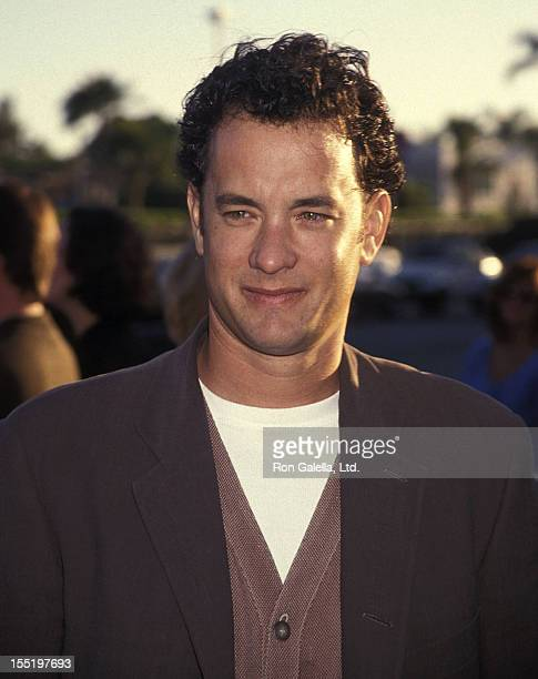 Actor Tom Hanks attends the 'Forrest Gump' Hollywood Premiere on June 23 1994 at the Paramount Studios in Hollywood California
