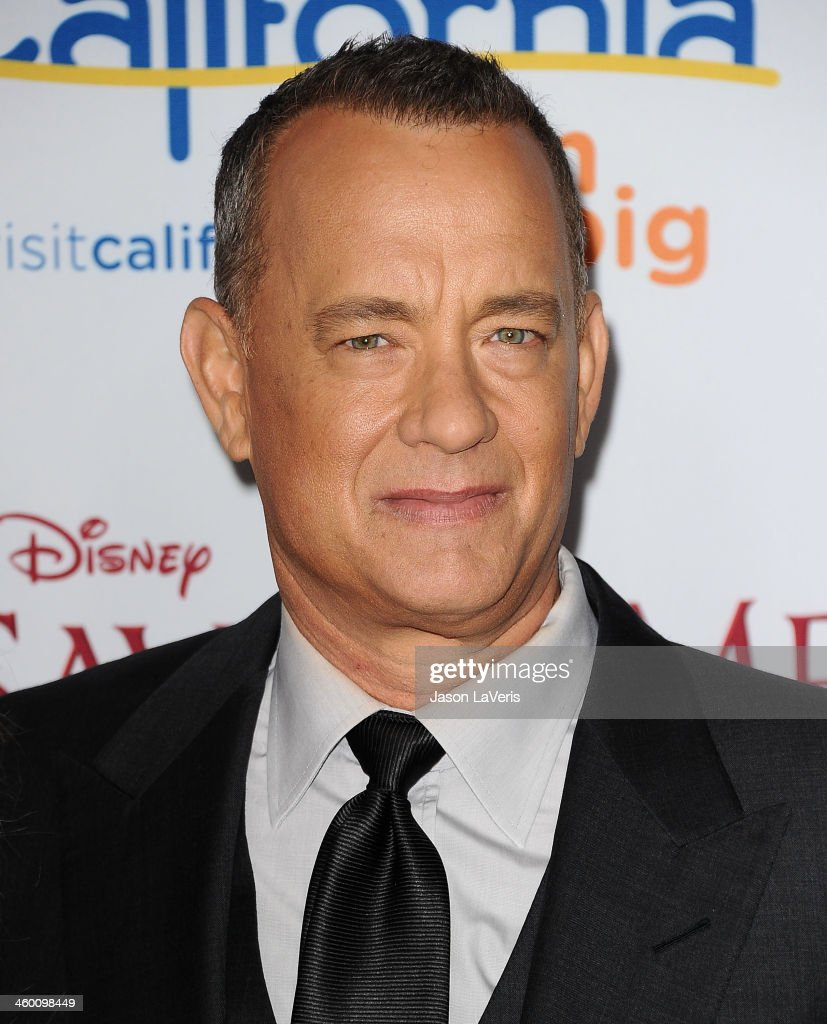 Actor <a gi-track='captionPersonalityLinkClicked' href=/galleries/search?phrase=Tom+Hanks&family=editorial&specificpeople=201790 ng-click='$event.stopPropagation()'>Tom Hanks</a> attends the premiere of 'Saving Mr. Banks' at Walt Disney Studios on December 9, 2013 in Burbank, California.