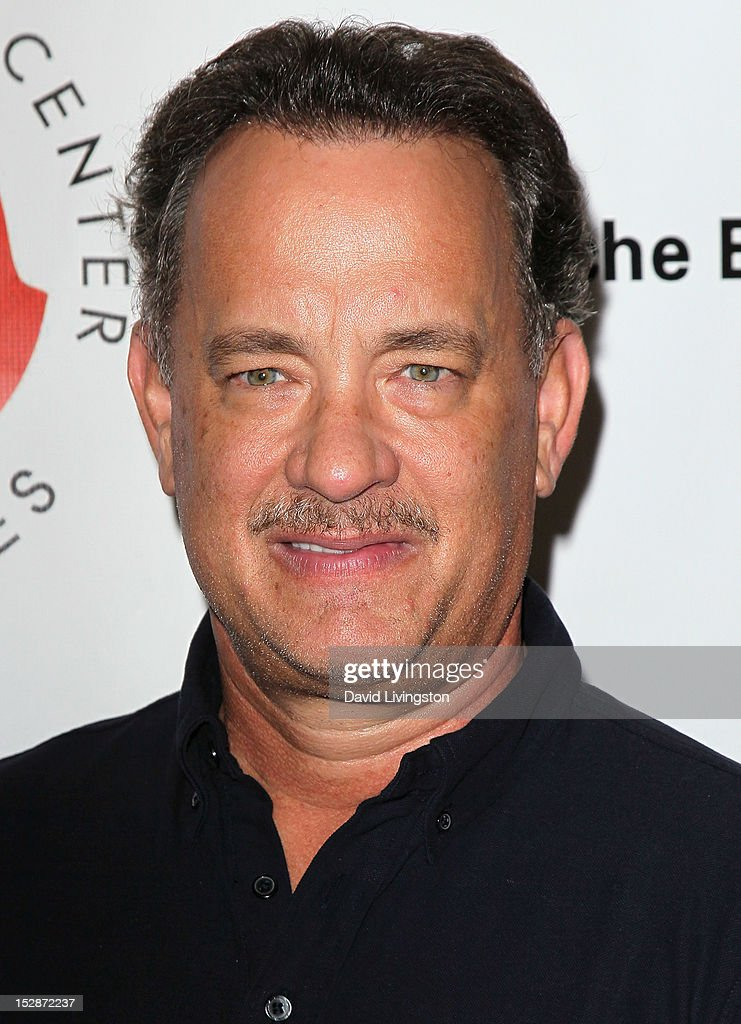 Actor <a gi-track='captionPersonalityLinkClicked' href=/galleries/search?phrase=Tom+Hanks&family=editorial&specificpeople=201790 ng-click='$event.stopPropagation()'>Tom Hanks</a> attends the Shakespeare Center of Los Angeles' 22nd Annual 'Simply Shakespeare' at the Freud Playhouse, UCLA on September 27, 2012 in Westwood, California.