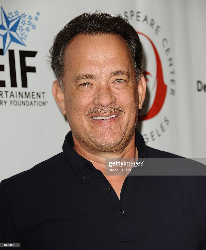 Actor <a gi-track='captionPersonalityLinkClicked' href=/galleries/search?phrase=Tom+Hanks&family=editorial&specificpeople=201790 ng-click='$event.stopPropagation()'>Tom Hanks</a> attends the Shakespeare Center of Los Angeles' 22nd annual 'Simply Shakespeare' event at Freud Playhouse, UCLA on September 27, 2012 in Westwood, California.