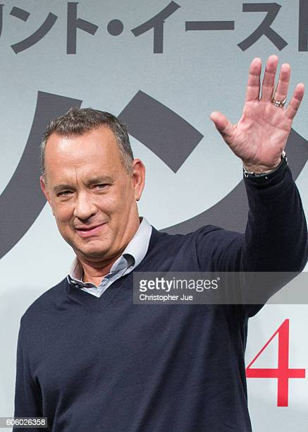 US actor Tom Hanks attends the 'Sully' press conference on September 16 2016 in Tokyo Japan