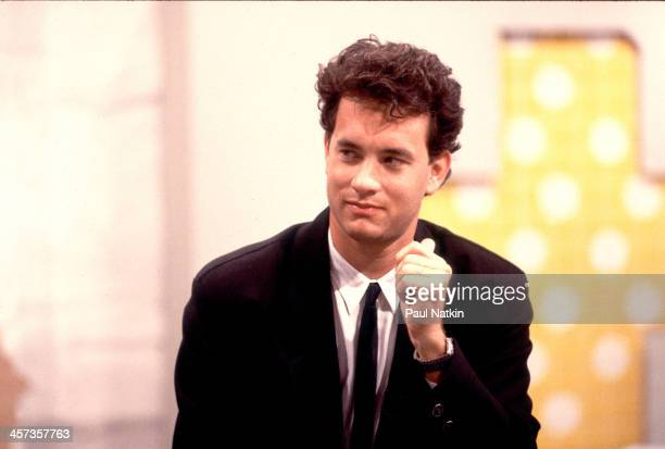 Actor Tom Hanks on the set of a Fox TV kids show pilot Chicago Illinois May 17 1988
