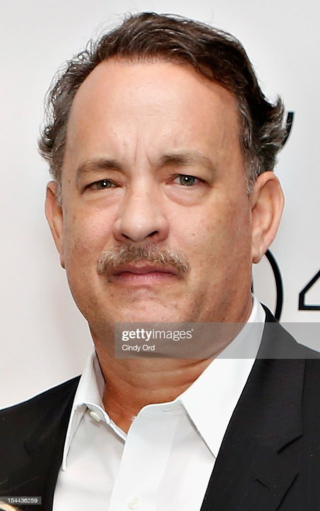 Actor <a gi-track='captionPersonalityLinkClicked' href=/galleries/search?phrase=Tom+Hanks&family=editorial&specificpeople=201790 ng-click='$event.stopPropagation()'>Tom Hanks</a> poses backstage prior to Sherie Rene Scott's performance at 54 Below on October 19, 2012 in New York City.