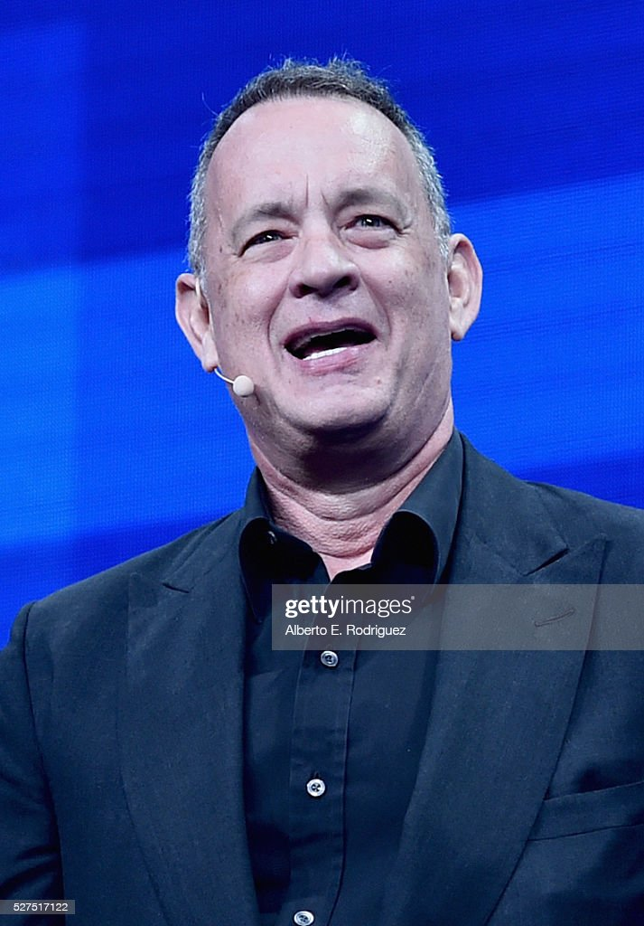 Actor Tom Hanks speaks onstage during 2016 Milken Institute Global Conference at The Beverly Hilton on May 02, 2016 in Beverly Hills, California.