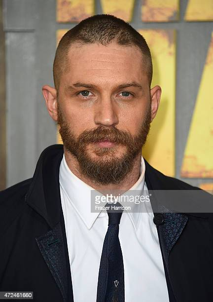 Actor Tom Hardy arrives at the Premiere Of Warner Bros Pictures' 'Mad Max Fury Road' at TCL Chinese Theatre on May 7 2015 in Hollywood California