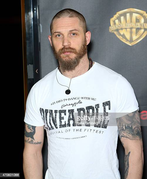 Actor Tom Hardy arrives at Warner Bros Pictures presents The Big Picture during CinemaCon 2015 at The Colosseum at Caesars Palace on April 21 2015 in...