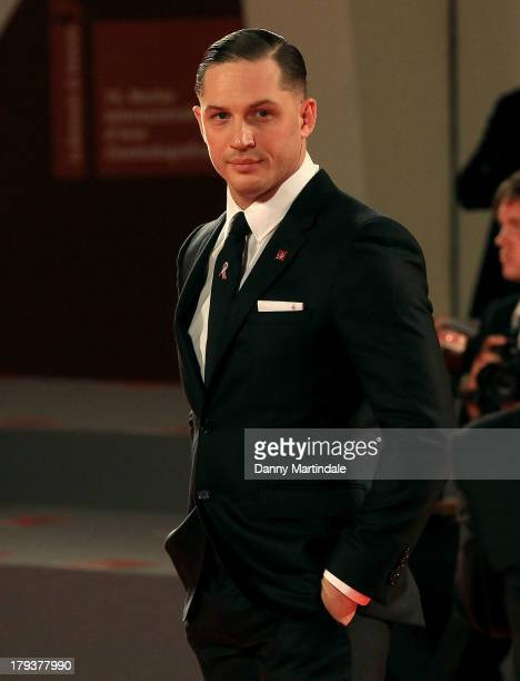 Actor Tom Hardy attends 'Locke' Premiere during the 70th Venice International Film Festival at Sala Grande on September 2 2013 in Venice Italy