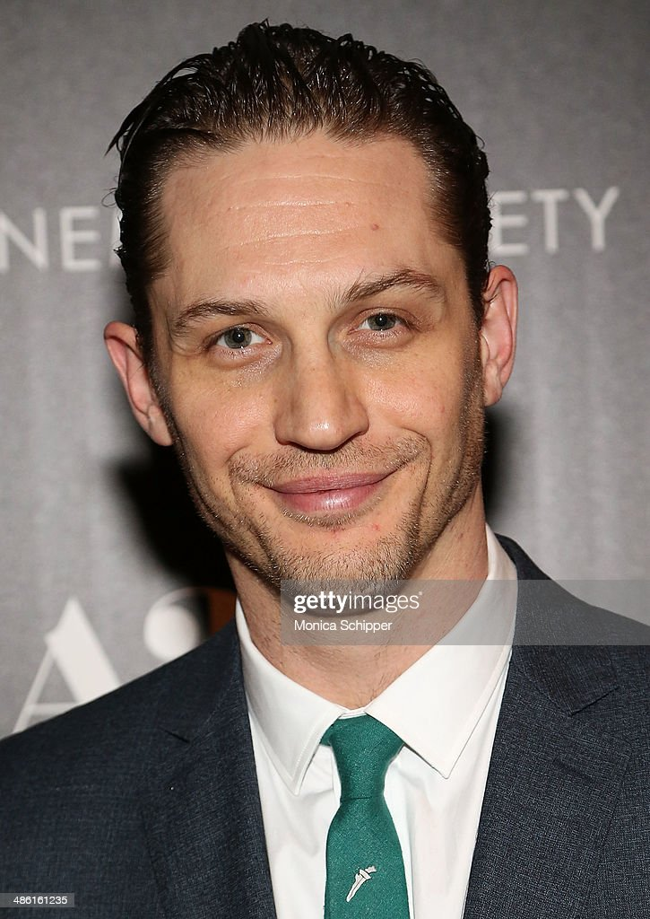 Actor <a gi-track='captionPersonalityLinkClicked' href=/galleries/search?phrase=Tom+Hardy+-+Actor&family=editorial&specificpeople=2209780 ng-click='$event.stopPropagation()'>Tom Hardy</a> attends the A24 and The Cinema Society premiere of 'Locke' at The Paley Center for Media on April 22, 2014 in New York City.