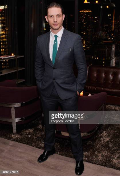 Actor Tom Hardy attends the after party for the A24 and The Cinema Society of 'Locke' at The Skylark on April 22 2014 in New York City
