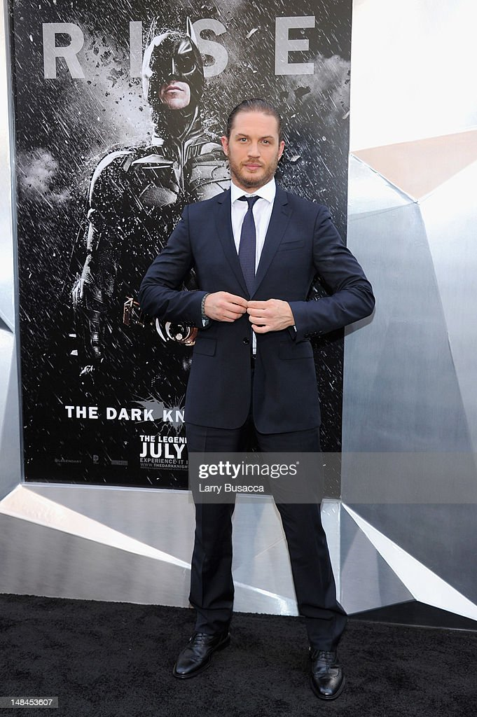 Actor <a gi-track='captionPersonalityLinkClicked' href=/galleries/search?phrase=Tom+Hardy+-+Actor&family=editorial&specificpeople=2209780 ng-click='$event.stopPropagation()'>Tom Hardy</a> attends 'The Dark Knight Rises' premiere at AMC Lincoln Square Theater on July 16, 2012 in New York City.