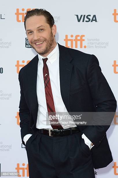 Actor Tom Hardy attends 'The Drop' premiere during the 2014 Toronto International Film Festival at Princess of Wales Theatre on September 5 2014 in...