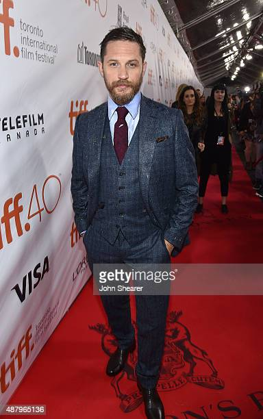 Actor Tom Hardy attends the 'Legend' gala screening during the 2015 Toronto International Film Festival at Roy Thomson Hall on September 12 2015 in...