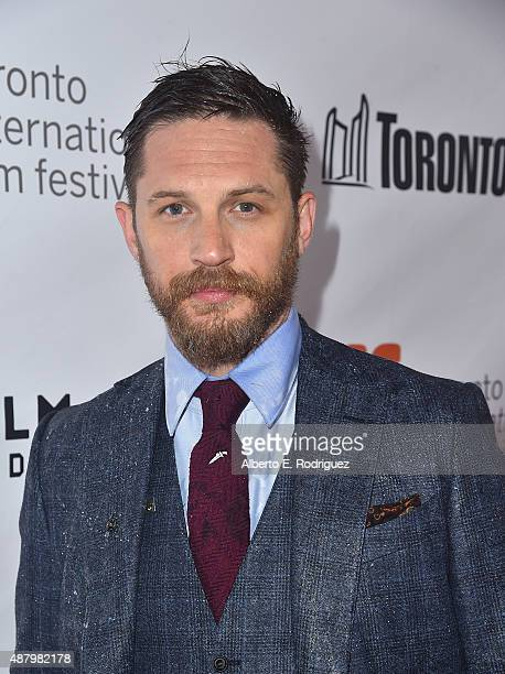 Actor Tom Hardy attends the 'Legend' premiere during the 2015 Toronto International Film Festival at Roy Thomson Hall on September 12 2015 in Toronto...