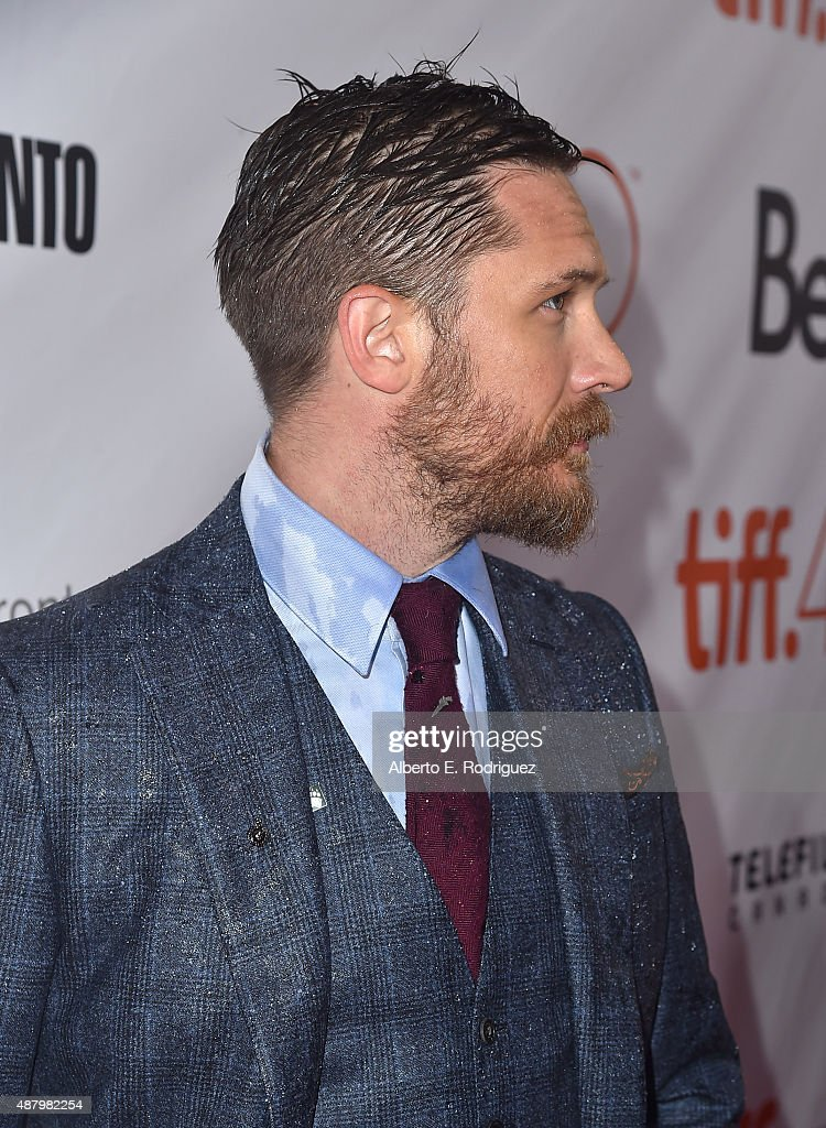 Actor Tom Hardy attends the 'Legend' premiere during the 2015 Toronto International Film Festival at Roy Thomson Hall on September 12, 2015 in Toronto, Canada.