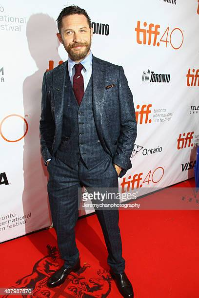 Actor Tom Hardy attends the 'Legend' premiere during the 2015 Toronto International Film Festival held at Roy Thomson Hall on September 12 2015 in...