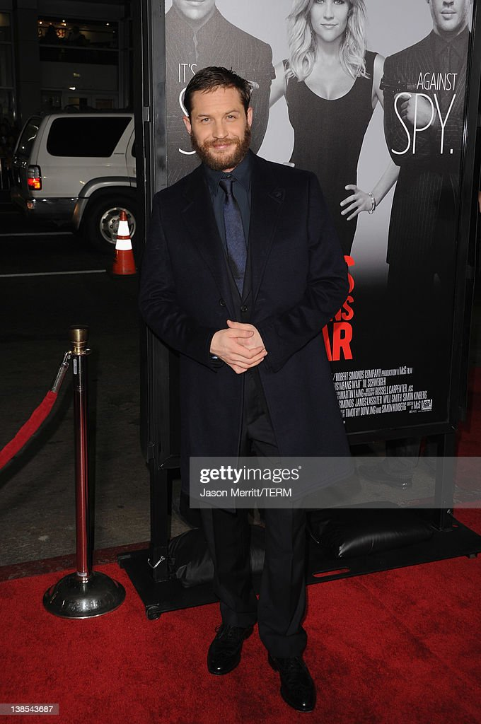 Actor <a gi-track='captionPersonalityLinkClicked' href=/galleries/search?phrase=Tom+Hardy+-+Actor&family=editorial&specificpeople=2209780 ng-click='$event.stopPropagation()'>Tom Hardy</a> attends the premiere of Twentieth Century Fox's 'This Means War' held at Grauman's Chinese Theatre on February 8, 2012 in Hollywood, California.