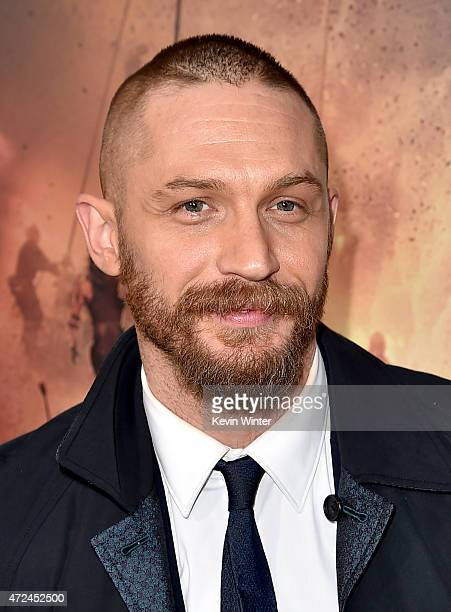 Actor Tom Hardy attends the premiere of Warner Bros Pictures' 'Mad Max Fury Road' at TCL Chinese Theatre on May 7 2015 in Hollywood California