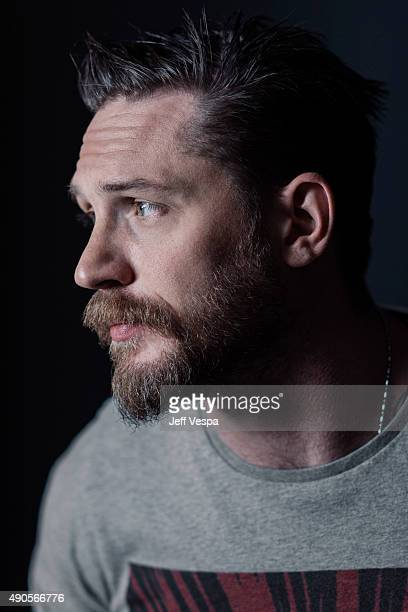 Actor Tom Hardy of 'Legend' poses for a portrait at the 2015 Toronto Film Festival at the TIFF Bell Lightbox on September 15 2015 in Toronto Ontario