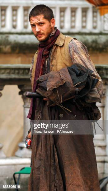 Actor TOM Hardy who filming his role as Bill Sykes in a BBC production of Oliver Twist scheduled for later this year outside the High Court in...