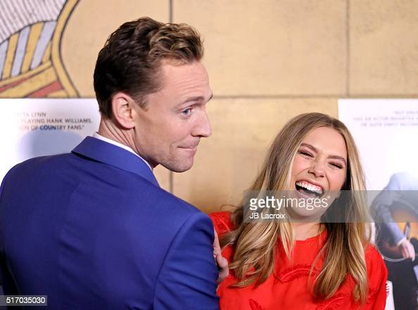 Actor Tom Hiddleston and actress Elizabeth Olsen attend the premiere of Sony Pictures Classics' 'I Saw the Light' on March 22 2016 in Hollywood...