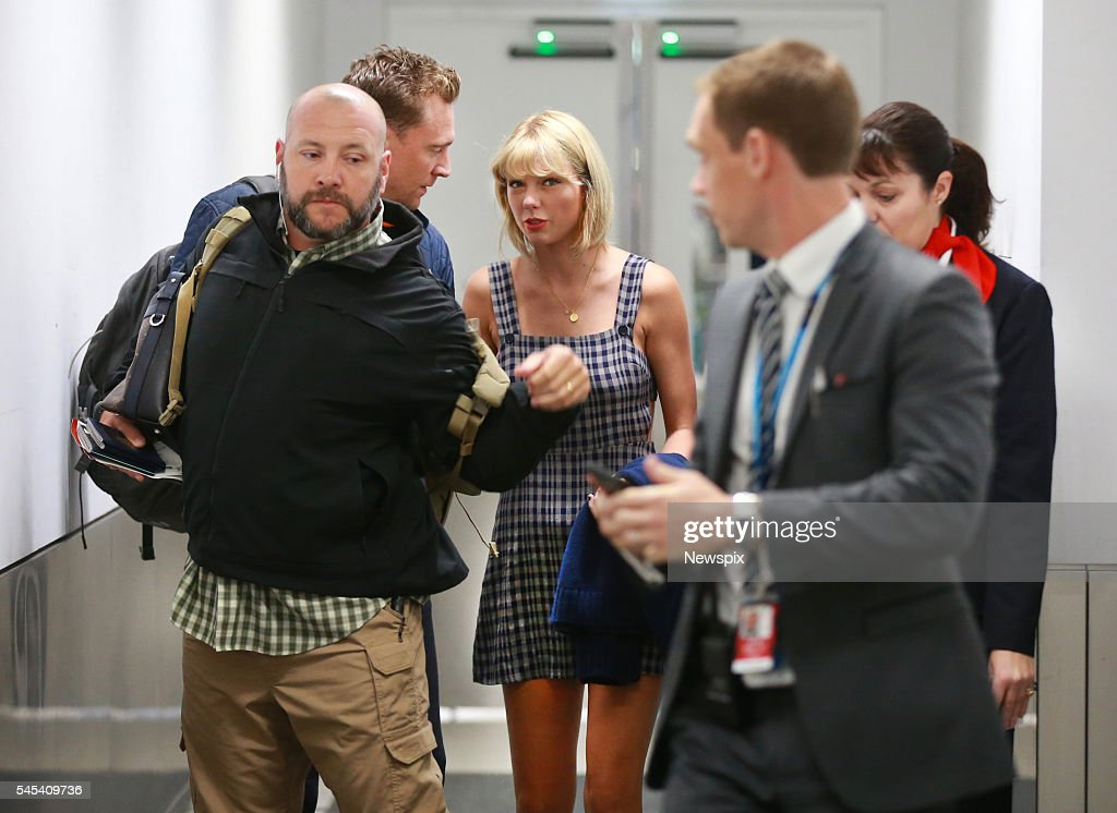 Actor Tom Hiddleston and singer Taylor Swift arrive at Sydney International Airport in Sydney, New South Wales. The couple are then believed to have got a connecting flight to the Gold Coast.