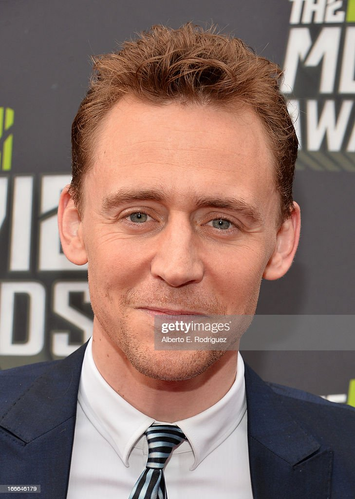 Actor Tom Hiddleston arrives at the 2013 MTV Movie Awards at Sony Pictures Studios on April 14, 2013 in Culver City, California.