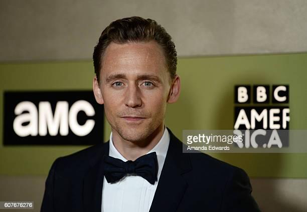 Actor Tom Hiddleston arrives at the AMC Networks' 68th Primetime Emmy Awards AfterParty Celebration at BOA Steakhouse on September 18 2016 in West...