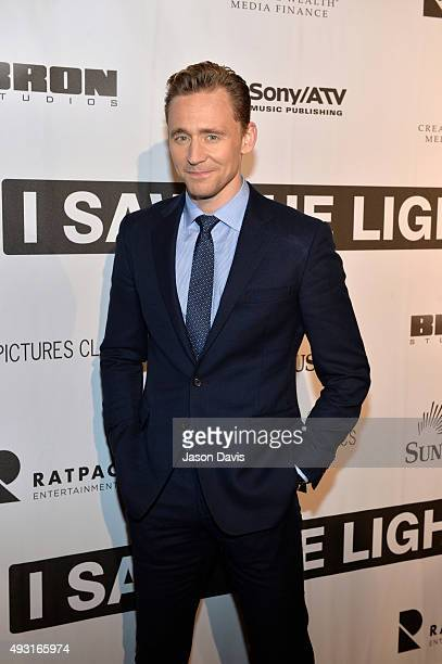 Actor Tom Hiddleston arrives at the 'I Saw The Light' Nashville Premier at The Belcourt Theatre on October 17 2015 in Nashville Tennessee