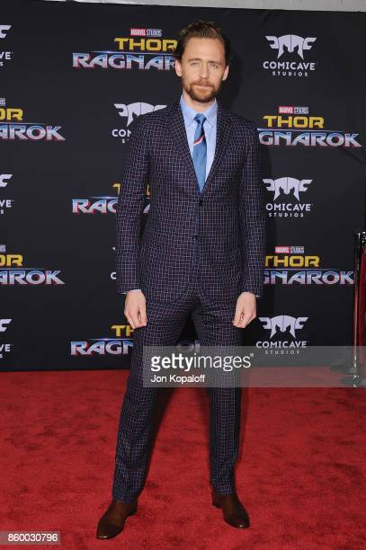 Actor Tom Hiddleston arrives at the Los Angeles Premiere 'Thor Ragnarok' on October 10 2017 in Hollywood California