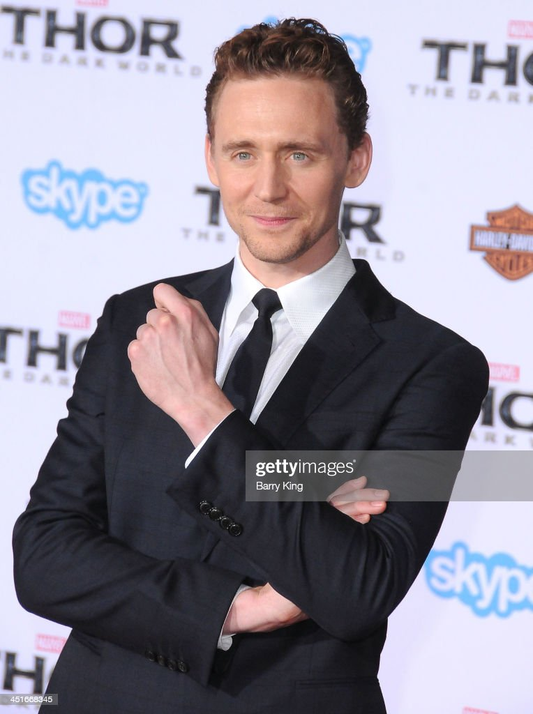 Actor <a gi-track='captionPersonalityLinkClicked' href=/galleries/search?phrase=Tom+Hiddleston&family=editorial&specificpeople=4686407 ng-click='$event.stopPropagation()'>Tom Hiddleston</a> arrives at the Los Angeles Premiere 'Thor: The Dark World' on November 4, 2013 at the El Capitan Theatre in Hollywood, California.