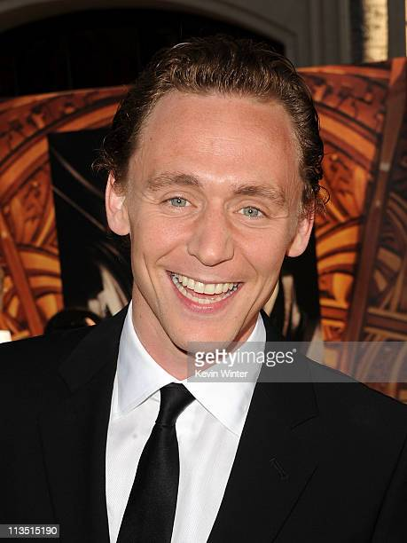 Actor Tom Hiddleston arrives at the premiere of Paramount Pictures' and Marvel's 'Thor' held at the El Capitan Theatre on May 2 2011 in Los Angeles...