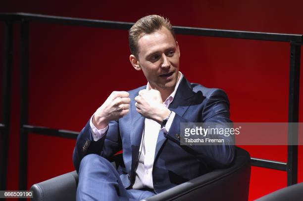 Actor Tom Hiddleston attends a panel discussion about 'The Night Manager' during the BFI Radio Times TV Festival at BFI Southbank on April 9 2017 in...