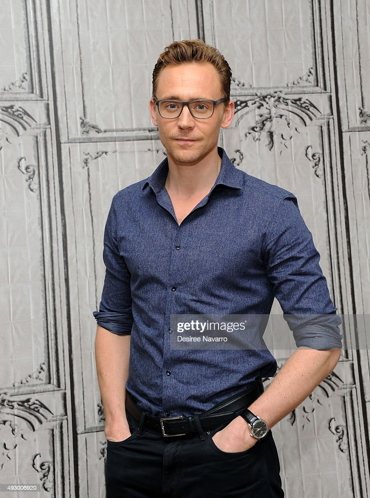 Actor Tom Hiddleston attends AOL BUILD presents 'Crimson Peak' at AOL Studios In New York on October 16, 2015 in New York City.